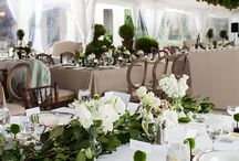 Shades of white, green, gold - Ashley Douglass Events