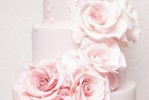 Bruidstaarten roze