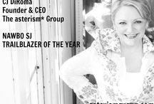 CJ DIROMA: FOUNDER & CEO, ASTERISM GROUP / Award-winning branding, marketing and event entrepreneur CJ DiRoma is the CEO of The asterism* Group and recipient of the 2013 NAWBO SJ TRAILBLAZER OF THE YEAR award.