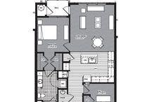 Fabulous Floor Plans / 1400 Main Street has fabulous floor plans that are all open concept!