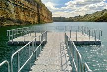 DOCKPRO | Commercial / DOCKPRO supplies turn-key flotation solutions. Designs are customised and fabricated according to each customer's requirements. Flotation solutions include pump platforms, penstock access walkways, vehicle bridges and pontoons.