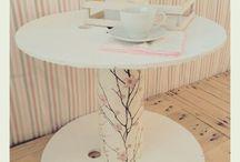 Mesas hechas con maderas