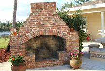 Fireplaces outside