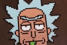 Perler Rick and Morty