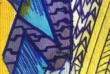 Chika.B. Sketch Book / Paint, pen, pixel & pattern. Abstractions in between.