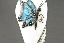 My butterfly beads / Jana lampwork beads