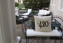 front porch and patio decor