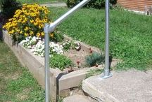 Front yard ideas / Including handrails, new landscaping ideas