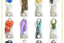 Different ways to tie a scarf.
