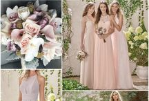 Blushing Wedding Inspo / Shades of pink with accents of light grey lilac and cream. Sweet, romantic colors that will be beautiful for that Spring/Summer wedding!