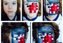 Kids Facepainting Designs by BobbiBicker / Kids Facepainting Ideas/Designs