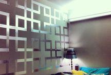 Tape wall art