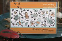 Stampin up Beetles & Bugs