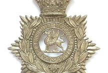 ANTECEDENT VOLUNTEER AND RIFLES BADGES / Badges of the antecedent units of the RWF