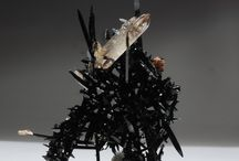 Minéraux : blanc, noir