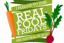 Real Food Fridays / Do you ever think about how far the food you eat travels to you? Who grew it? Who picked it? How much it processing it's been through before you take a bite?  They say you are what you eat, so why not be real? Slowing down and making the choice to eat food that is good for you, farmers, communities and the earth is exactly what is Real Food Fridays are all about. Be a part of making it happen! It all starts with you. MAKE YOUR PLEDGE AND JOIN THE REAL FOOD FRIDAYS MOVEMENT!