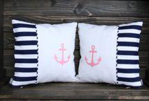 Poduszki Marine - Elkido Handmade / Zapraszam do zapoznania się z pięknie uszytymi poduszkami w stylu Marine - kolekcja dla chłopców i dziewczynek. www.elkido.pl