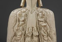 18th Century Gowns with puff trim