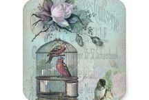 Birdcage themed birthday