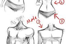 Pomoce do rysowania ciała
