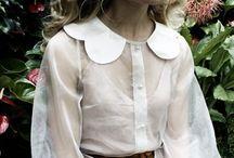 white scalloed cola blouse
