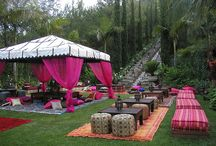 Outdoor party deco