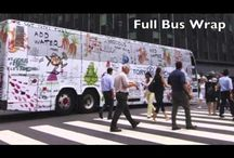 Bus Wrap Advertising / An advertisement that travels the town for you.