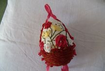 Egg basket / I embroidered this in 2013 eggsembroidery