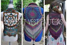 3 Crochet Pattern Pack - 3 Mandala Vests von OfMars auf Etsy https://www.etsy.com/de/listing/202396590/3-crochet-pattern-pack-3-mandala-vests