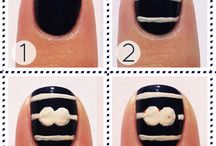 Nails / I love all these creative ideas for nails, but whenever I try them I fail... Oh well a girl can dream can't she?