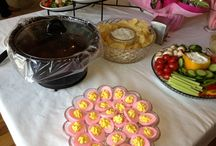 Baby shower / Pink eggs