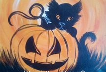 Acrylic painting Halloween / Acrylic paintings Halloween