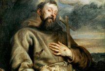 "Francis Assisi / Banyak cerita yang mengisahkan bagaimana St. Fransiskus dari Assisi (1182-1226) dapat berkomunikasi dengan binatang-binatang dan menyatu dengan semua ciptaan. Satu hal yang sangat terkenal dari St. Fransiskus di kalangan Gereja, yakni DOA PEMBAWA DAMAI yang intinya : ""Ya TUHAN, jadikanlah aku berguna, untuk melayani sesama manusia, yang hidup dan mati dalam kemiskinan dan kelaparan."""