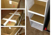 meuble cartons
