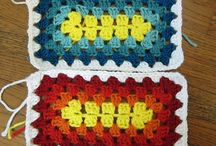 Quadrados de crochê E.T.C