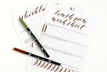 Brush pen lettering