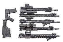 Современные винтовки и пистолеты