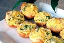 Mini ham en cheddar quiches