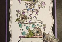 House of Zandra inspired cards / Fabulous cards by house of zandra