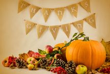 Thanksgiving / An inviting feast of autumn harvest food and colour. Ideas for entertainment, family meals, photography