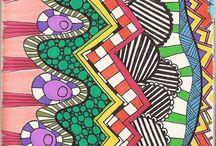art doodle, tangle and journal inspiration / by Martha Arrington
