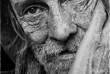 Drawing:  Pencil - Charcoal / Artwork made with pencil or charcoal / by Junell Toney