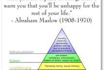 ༜ Abraham Maslow ༜ / by Melissa K. Nicholson, LMSW