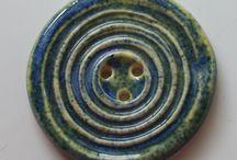 Ceramic Artisan Buttons / Handmade Ceramic Artisan Buttons Mary Welsh Hubbard www.whitecloverkiln.com