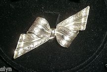 GORGEOUS ART DECO STERLING PUFFY BOW PIN-CHECK IT OUT ON E-BAY