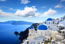 Beautiful Santorini Island, Cyclades, Greece / Magical view