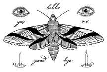 Blackwork tattoo flash