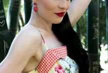 Kawaii pinup and rockabilly girls