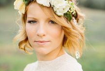 Bride's hair / with flowers