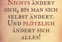 Gemalt - Sprüche u.a.